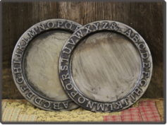 36943 ABC Pewter Tray